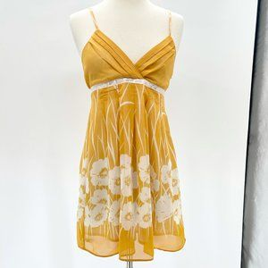 Forever 21 ~ Yellow Floral Print Dress ~ Size S